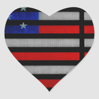 American Flag IN Times Square NYC Heart Sticker
