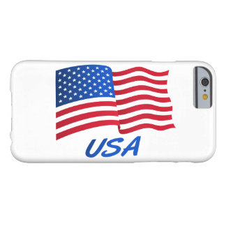 American flag in wind with USA sq.ai Barely There iPhone 6 Case
