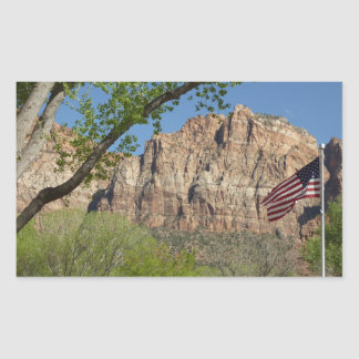 American Flag in Zion National Park I Sticker