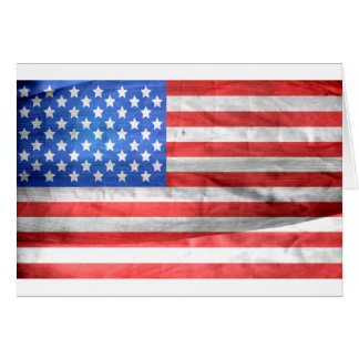 American Flag Independence Day 4 th July Card