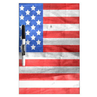 American Flag Independence Day 4 th July Dry Erase Whiteboard