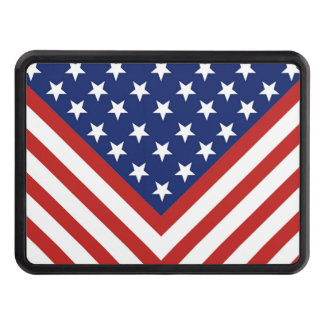 American Flag Inspired Design. Trailer Hitch Cover