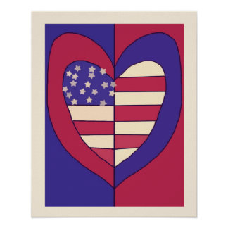 American Flag Inspired Original Design Poster