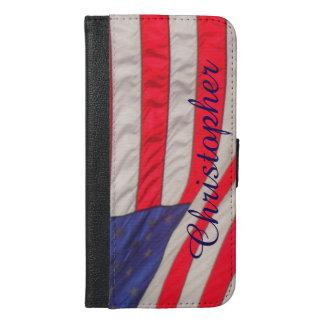 American Flag, iPhone 6 Plus Wallet Case Custom