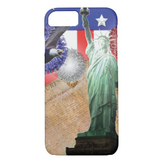 American Flag iPhone 7 case Liberty Fireworks