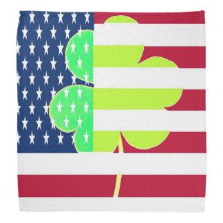 American Flag Irish Shamrock Clover St. Patrick Bandana