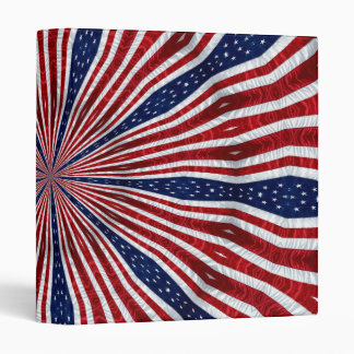 American Flag Kaleidoscope Abstract 2 Binders