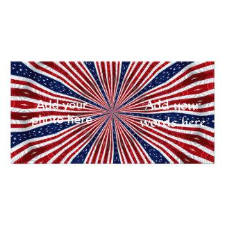 American Flag Kaleidoscope Abstract 2 Photo Card