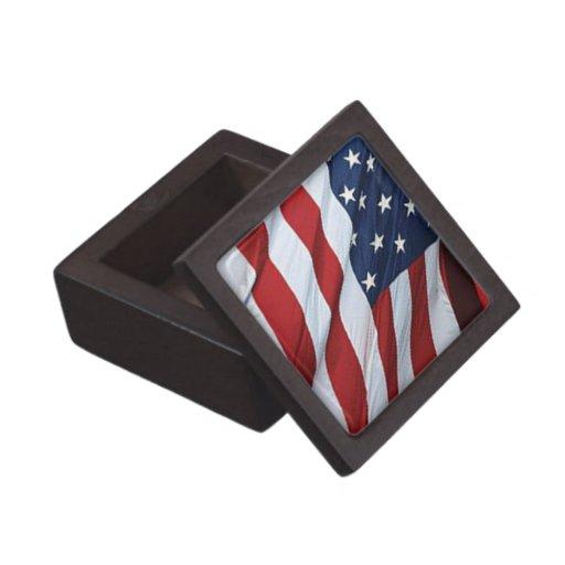 American Flag Keepsake Box Premium Jewelry Box