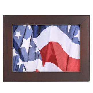 American Flag Keepsake Boxes