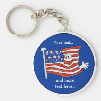 American Flag Key Chain To Customize