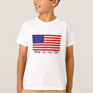 American Flag Kids T-shirt Made in the USA