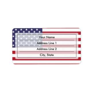 American flag label