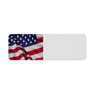 American Flag Label Return Address Label