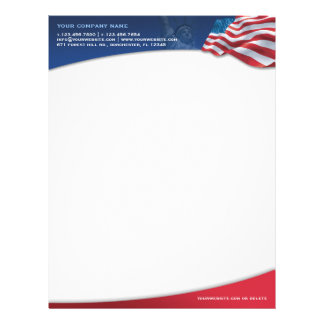 American Flag Letterhead