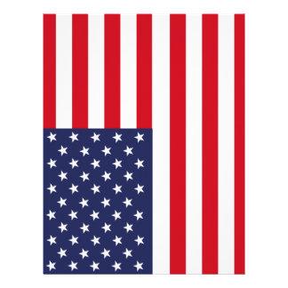 American flag letterhead design