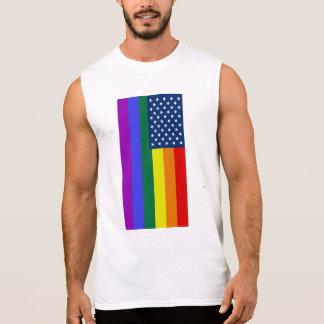American Flag LGBT Pride Rainbow Tee