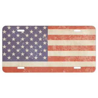 American Flag License Plate