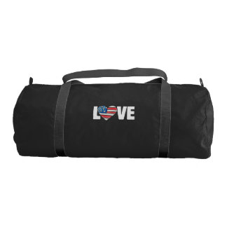 american flag love usa gym bag