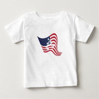 American Flag Love Wrestle Wrestling Baby T-Shirt