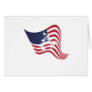 American Flag Love Wrestle Wrestling Card