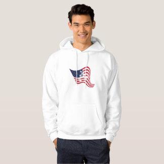 American Flag Love Wrestle Wrestling Hoodie