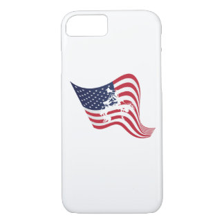 American Flag Love Wrestle Wrestling iPhone 8/7 Case