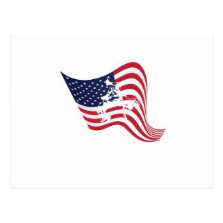 American Flag Love Wrestle Wrestling Postcard