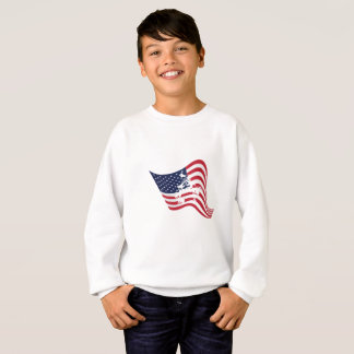 American Flag Love Wrestle Wrestling Sweatshirt
