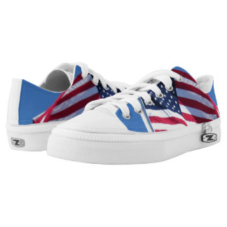 American Flag Low Top Custom