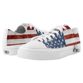 American flag Low-Top sneakers