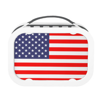 American flag lunch box | Patriotic design