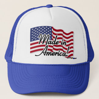 American Flag - Made in America! Trucker Hat