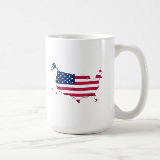 American Flag-Map Basic White Mug