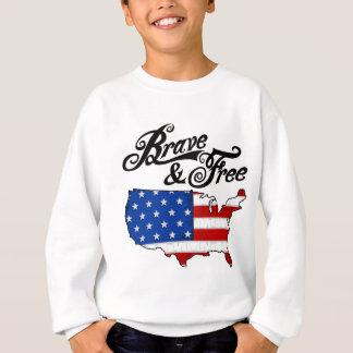 american flag & map independence day usa 2 light sweatshirt