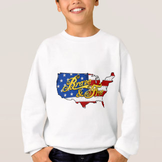 american flag & map independence day usa gold sweatshirt
