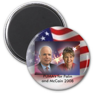american flag, mccainandpalinsticker, PUMA's fo... Magnet