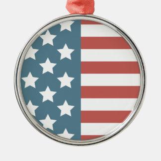American Flag Metal Ornament
