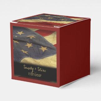American Flag Military Wedding Favor Box
