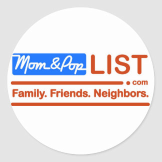 American Flag Mom and Pop Classic Round Sticker