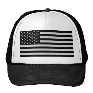 American Flag Monocrome Trucker Hat