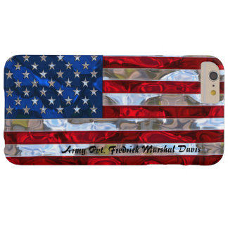 American Flag Monogram  Lightweight Barely There iPhone 6 Plus Case
