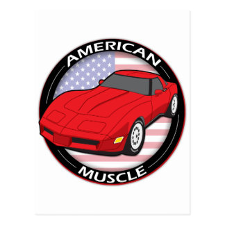 American Flag Muscle Postcard