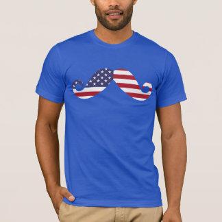 American Flag Mustache T-Shirt