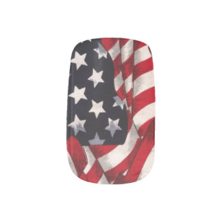 American Flag Nail Art Decals
