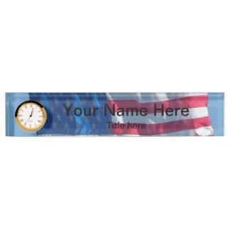 American Flag Nameplate