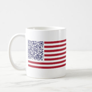 American Flag National Anthem QR Code Coffee Mug