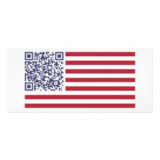 American Flag National Anthem QR Code Rack Cards