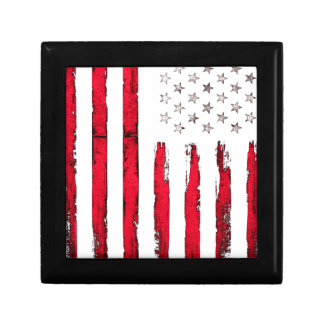 American flag New Red Grunge Jewelry Boxes