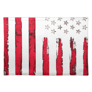 American flag New Red Grunge Placemat